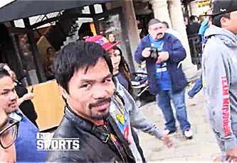 Boxer Manny Pacquiao has