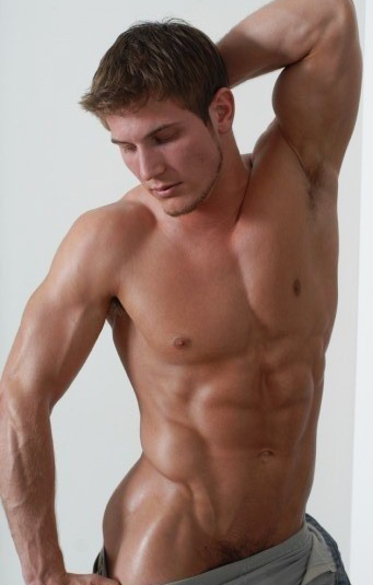 Gay male fitness models