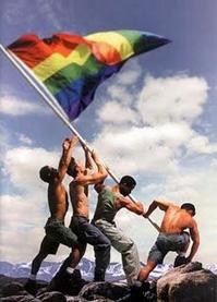 raisingrainbowgayflaghotmen