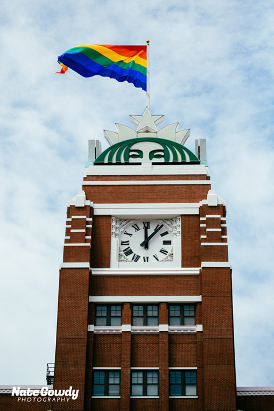 starbucks gay flag