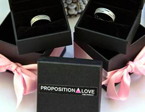 gay wedding rings jewelry propistion love