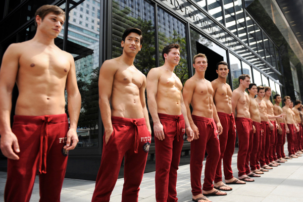 abercrombie male models fired